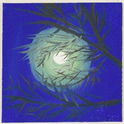 Ann Craven, 'Moon (Blue Moon, Lime Green Light, Cushing, 7-31-15, 11:30PM), 2015', 2015