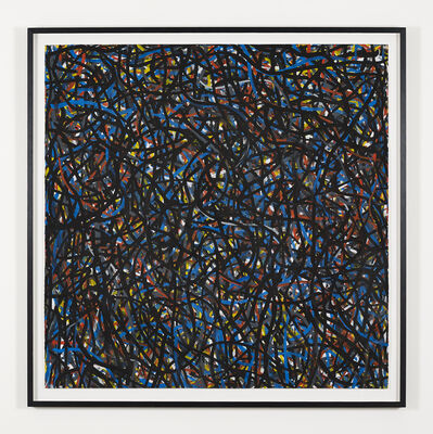 Sol LeWitt, 'Not Straight Brushstrokes (Black)', 1996