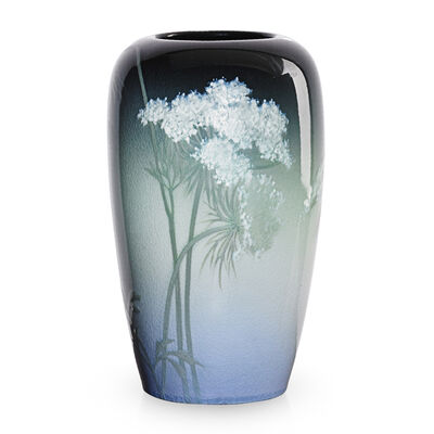 Rookwood Pottery, 'Iris Glaze vase with Queen Anne's lace', 1908