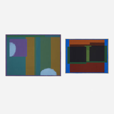 Sewell Sillman, 'Untitled (two works)', c. 1960