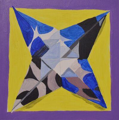 Mary Jo Karimnia, 'Black and Blue Circle Star', 2016