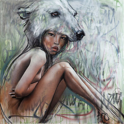 Herakut, 'Polar Bear Woman', 2019