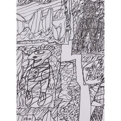 Jean Dubuffet, 'Paysage avec deux personnages', 30 mai 1980
