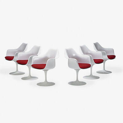 Eero Saarinen, 'Set of six Tulip swivel armchairs, Italy/USA'