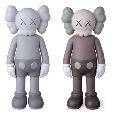 KAWS, 'Companion Brown (Full Bodied) and Companion Mono (Full Bodied)', 2016