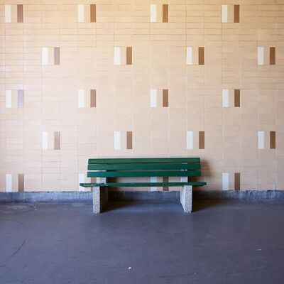 Chris Shepherd, 'Warden Station Bus Bay Bench, Toronto', 2014