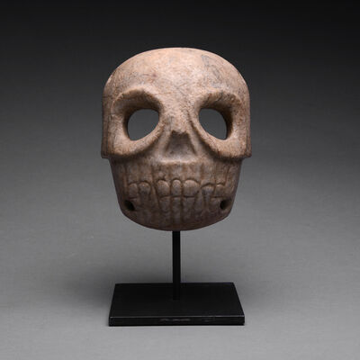 Pre-Columbian, Art of Costa Rica, 'Stone Skull Mask', ca. 1st Century to 5th Century