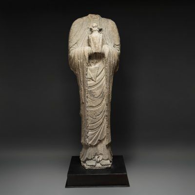 Unknown Chinese, 'Liao Basalt Torso of a Standing Guanyin', 10-12