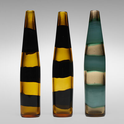 Fulvio Bianconi, 'A Fasce Orizzontali bottles model 4399, collection of three', 1951