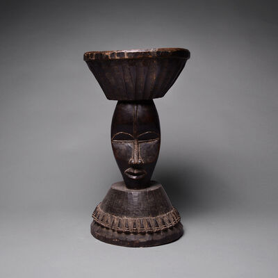 Unknown African, 'Dan Stool with Two Masks', 1850 A.D. to 1920 A.D.
