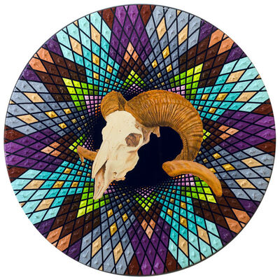 David Cooley, 'Hora Fugit (Time Flies - Ram Skull)', 2018