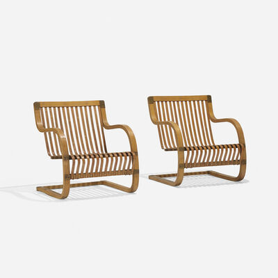Ubunji Kidokoro, 'Lounge Chairs, Pair', 1937