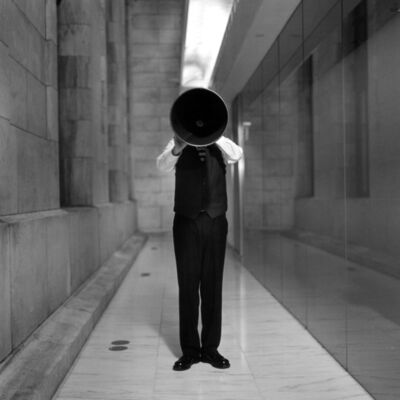 Rodney Smith, 'Travis with Megaphone, New York Public Library, New York', 2003