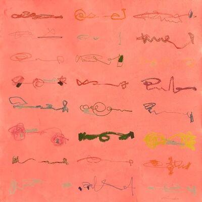 Mineko Yoshida, 'Line Drawing on Red', 2019