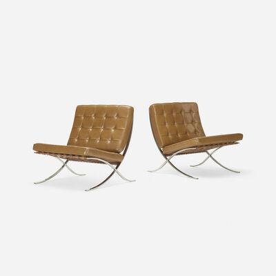 Ludwig Mies van der Rohe, 'Barcelona chairs, pair', 1929