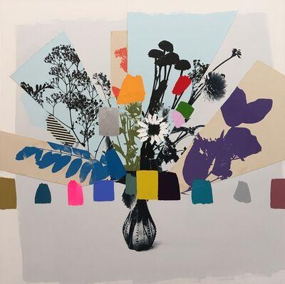 Emily Filler, 'Vintage Bouquet (Purple + Blue Leaves)', 2017