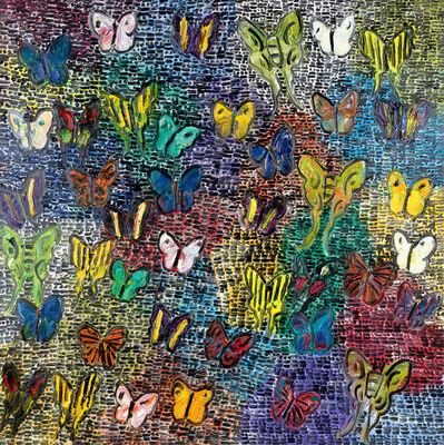 Hunt Slonem, 'Guardians & Butterflies Now', 2019