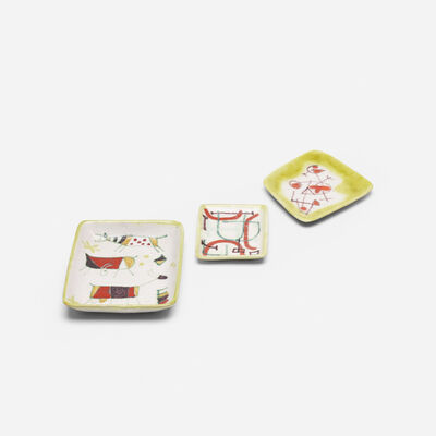Guido Gambone, 'collection of three dishes', c. 1955
