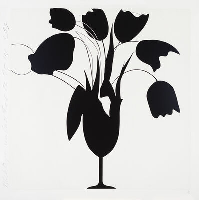 Donald Sultan, 'Black Tulips and Vase, Feb 26, 2014, ed. of 50', 2014