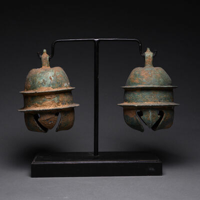 Khmer 14th Century, 'Khmer Bronze Elephant Bells', ca. 12th-13th Century AD