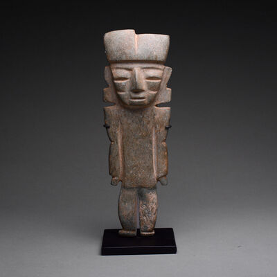 Teotihuacan, 'Teotihuacan Green Stone Figure', 100 BC to 200 AD