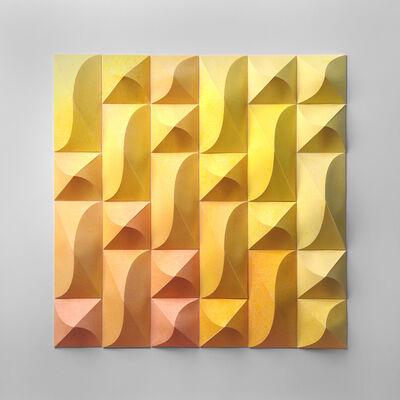 Matt Shlian, 'Foreign Ministry 9 Yellow Orange Wash', 2019