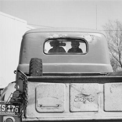 Robert Adams (b.1937), 'Boys in a pickup. Simla, Colorado', 1970
