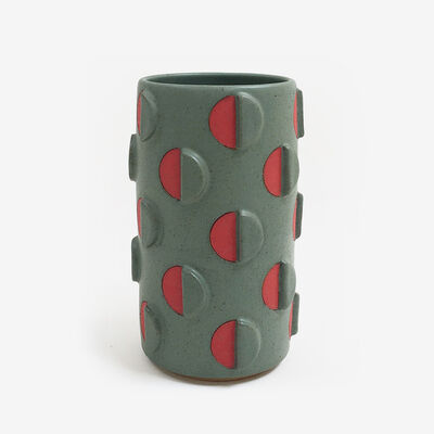 Matthew Ward, 'Split Polka Dot Vase with Relief', 2018
