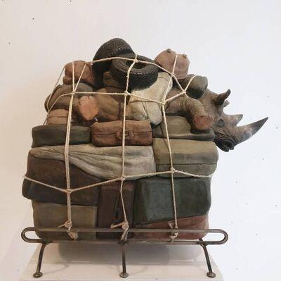 Stefano Bombardieri, 'Bagaglio Rinoceronte grande', 2010