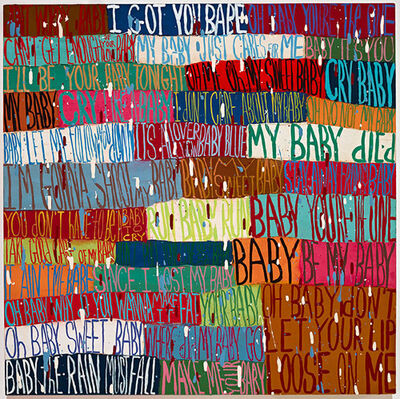 Squeak Carnwath, 'Little Baby', 2016