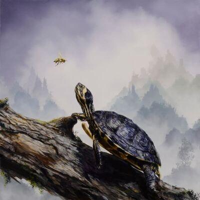 Brian Mashburn, 'Box Turtle and Honeybee', 2021