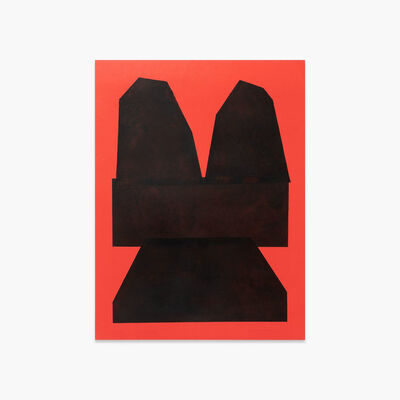 Michael Wall, 'Black on Red Paper II ', 2018