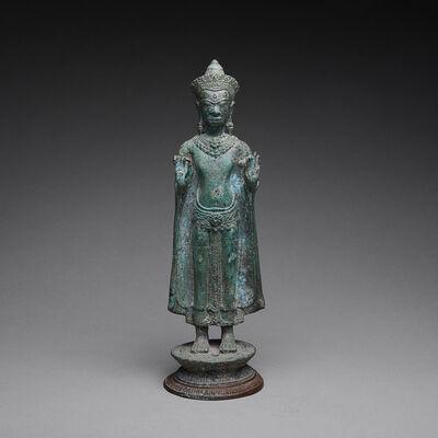 Thailand, 'Lopburi Period Khmer Bronze Buddha', 12th Century AD to 13th Century AD