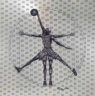 Keng Lau, 'Vitruvian Athlete Basketball', 2016