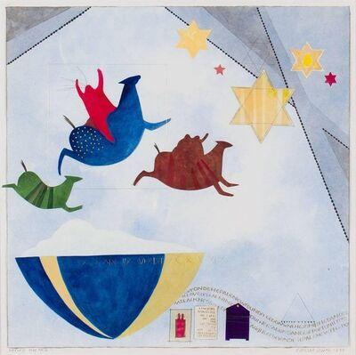 Susan Miller Simon, 'Beyon The Pale I, Jewish, Native American Symbolist Painting', 1990-1999