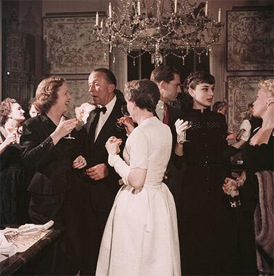 Slim Aarons, 'Californian Party, 1955: Belgian Born Actress Audrey Hepburn socializing at a party in San Francisco', 1955