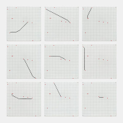 Jennifer Losch Bartlett, 'One Line (Connecting any Two of Nine Points)', 1972