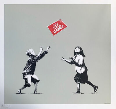 Banksy, 'No Ball Games (Grey)', 2006