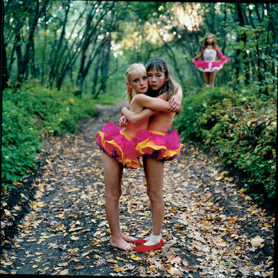 Michal Chelbin, 'Xenia, Janna and Alona in the woods', 2003
