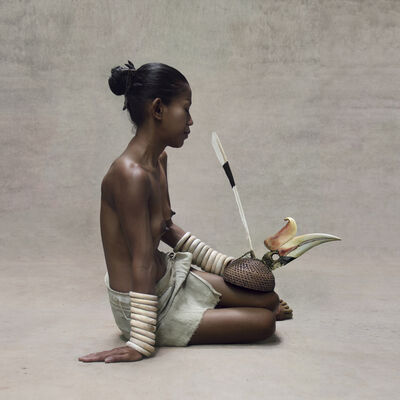 Fred Stichnoth, 'Young Woman with Hornbill Headdress, New Guinea', 2016