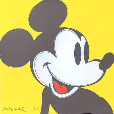 Andy Warhol, 'Mickey Mouse (Yellow)', 1986