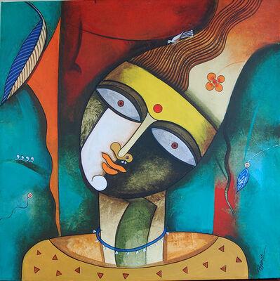 Prakash G Nayak, 'Mask of Goddess 25', 2019