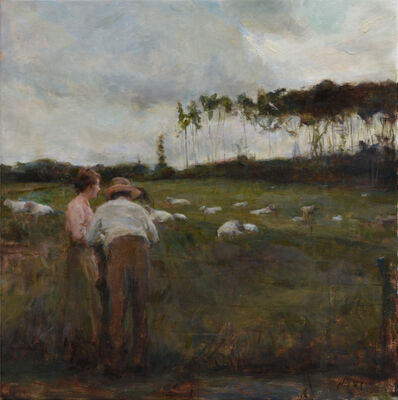 Ron Hicks, 'Watching the Charolais', 2018