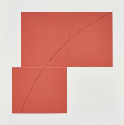 Robert Mangold, 'A Red, from Three Aquatints', 1979
