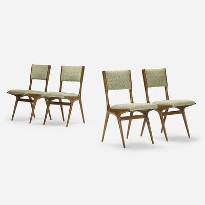 Carlo de Carli, 'dining chairs, set of four', c. 1950