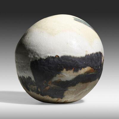 Toshiko Takaezu, 'Small Moon Closed Form (with rattle)', c. 1985
