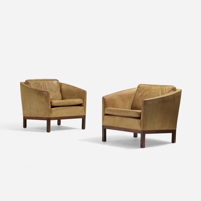 Illum Wikkelsø, 'Lounge Chairs, Pair', c. 1960
