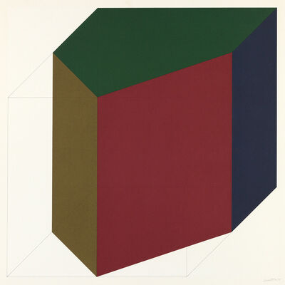 Sol LeWitt, 'Forms Derived from a Cube (Colors Superimposed), Plate #12', 1991