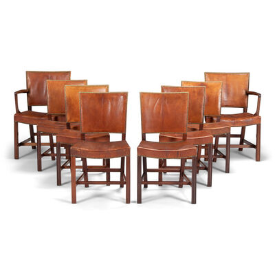 Kaare Klint, 'A set of six dining chairs and two armchairs', 1927