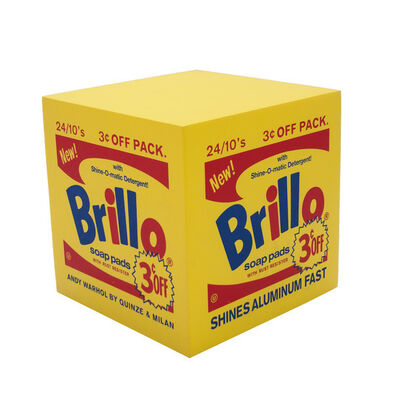 Andy Warhol, 'Brillo Box Yellow pouf', ca. 2015